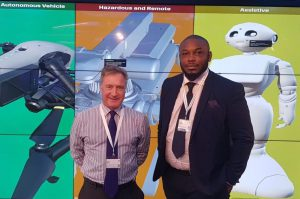 Simon Miles, Business Development Manager for ATG's Systems Division, and Temitope Solanke, Wood's Regional Manager, Process Solutions
